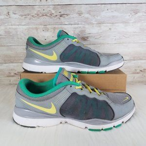 Nike Flex Trainer 2 Womens 9 Gray Green Athletic